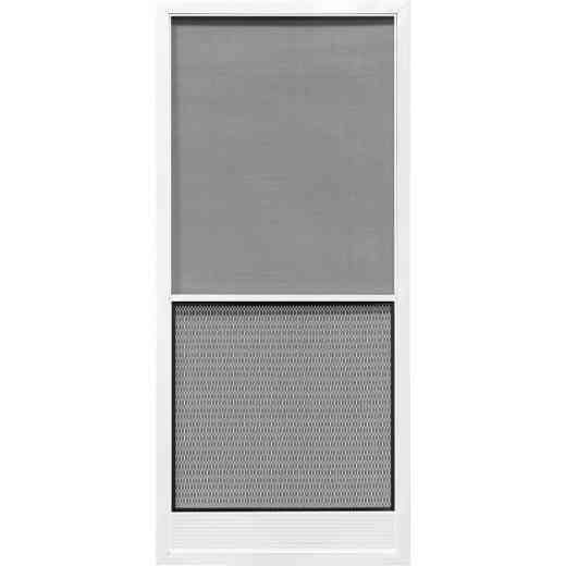 Precision Screen Capri 36 In. W x 80 In. H x 7/8 In. Thick White Steel Screen Door