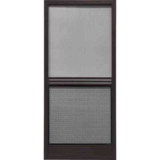 Precision Screen Provencial 36 In. W x 80 In. H x 7/8 In. Thick Bronze Steel Screen Door