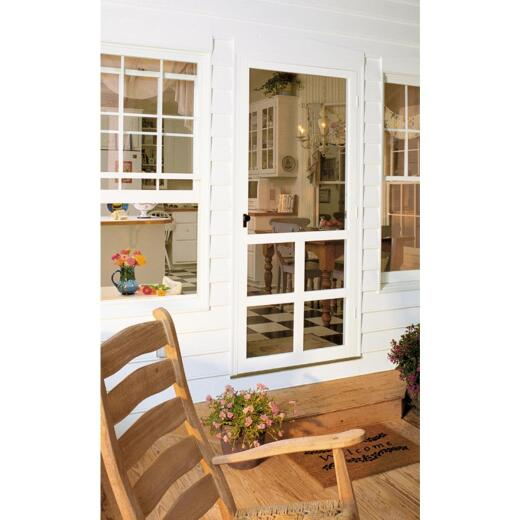 Snavely Kimberly Bay Victoria 32 In. W. x 80 In. H. x 1 In. Thick White Vinyl Screen Door