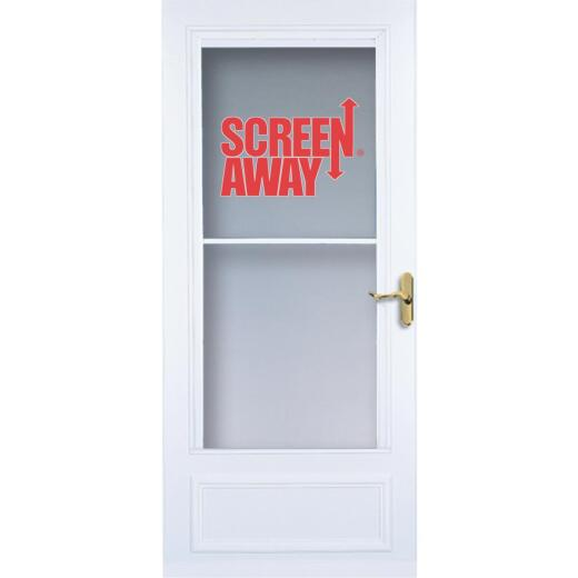 Larson Screenaway Lifestyle 32 In. W. x 80 In. H. x 1 In. Thick White Mid View DuraTech Storm Door