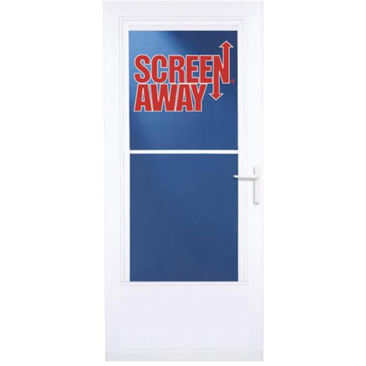 Larson Screenaway Life-Core 32 In. W. x 80 In. H. x 1 In. Thick White Mid View DuraTech Storm Door