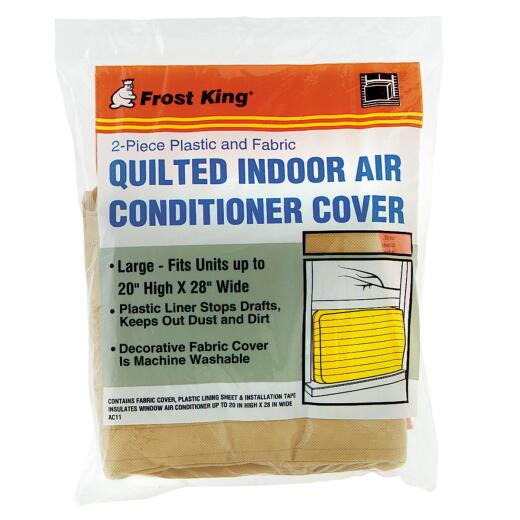 """Frost King 20"""" x 28"""" Rectangle Beige Air Conditioner Cover"""