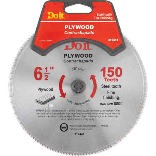 Do it 6-1/2 In. 150-Tooth Plywood Circular Saw Blade