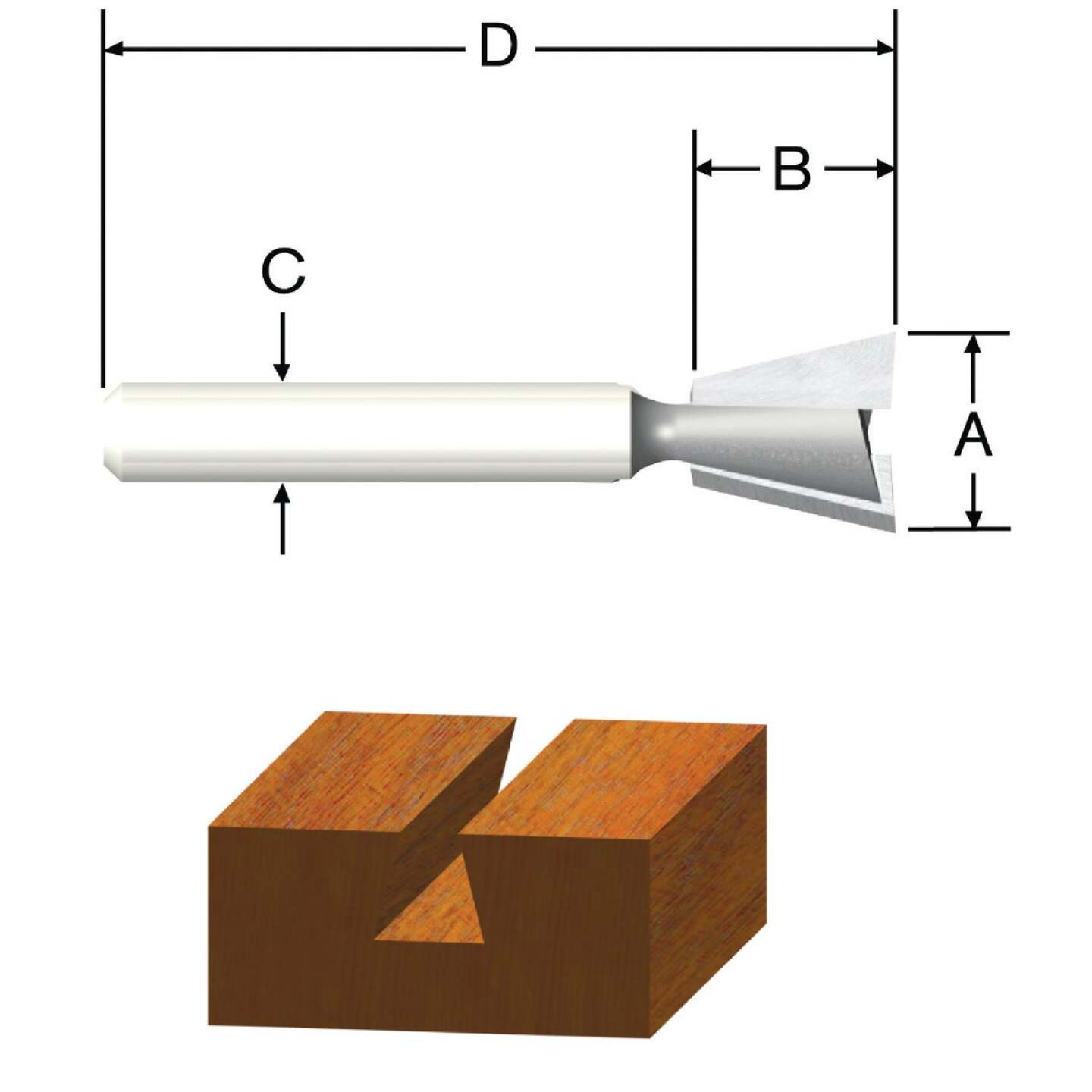 Vermont American Carbide Dovetail 3/8 In. Dovetail Bit Image 1