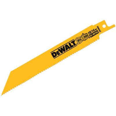 DeWalt 6 In. 10/14 TPI Wood/Metal Reciprocating Saw Blade (2-Pack)