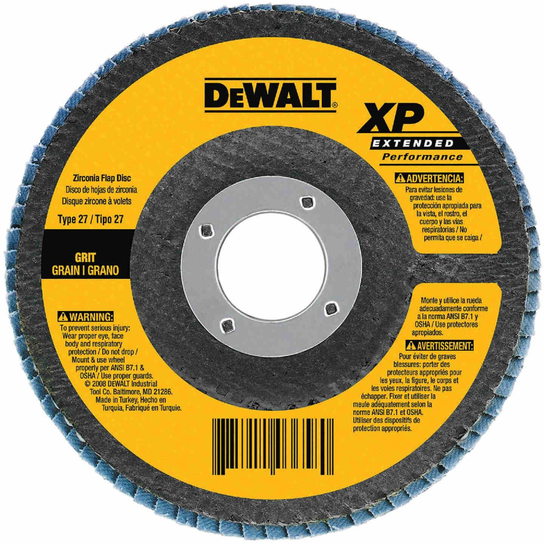 DeWalt 4-1/2 In. 60-Grit Type 29 High Performance Zirconia Angle Grinder Flap Disc Image 1