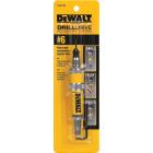 DeWalt #6 1/4 In. Black Oxide Drill & Drive Unit Image 3