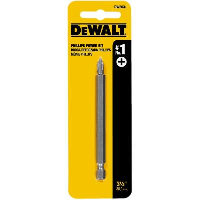 DeWalt Phillips #1 3-1/2 In. 1/4 In. Power Screwdriver Bit