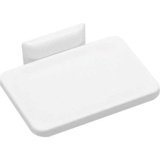 Decko White Soap Dish