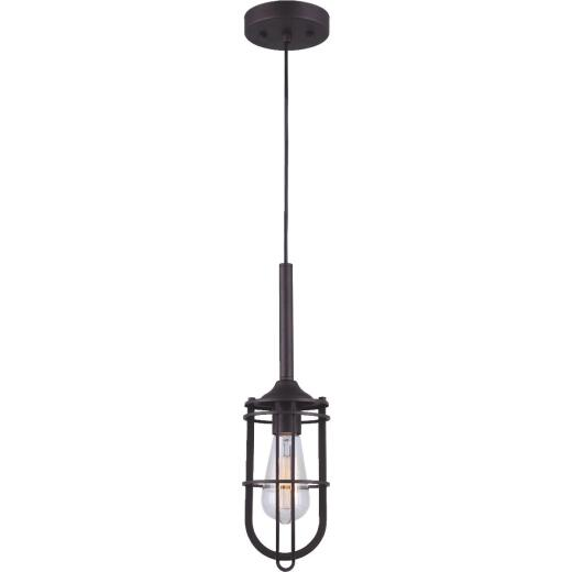 Home Impressions 1 Bulb Oil Rubbed Bronze Incandescent Cage Style Pendant Light Fixture