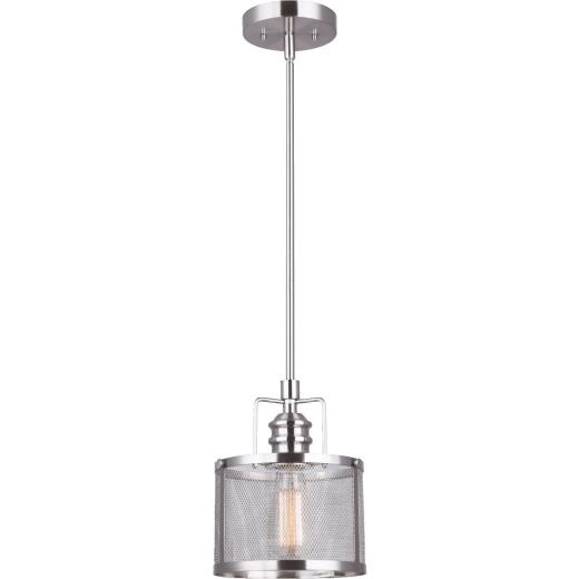 Home Impressions Beckett 1-Bulb Brushed Nickel Incandescent Pendant Light Fixture