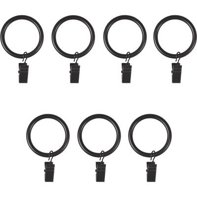 Umbra 1 In. Clip Curtain Ring, Black (7-Pack)