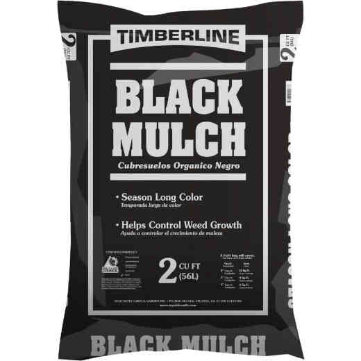 Timberline 2 Cu. Ft. Dyed Black Shredded Hardwood Mulch