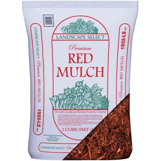 Landscape Select 2 Cu. Ft. Red Shredded Hardwood Mulch