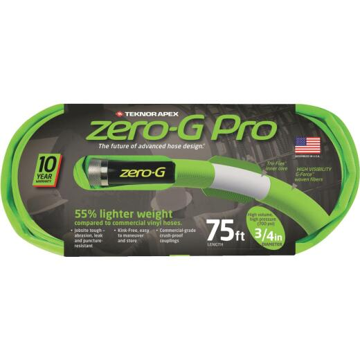 Apex Zero-G Pro 3/4 In. Dia. x 75 Ft. L. Drinking Water Safe Garden Hose