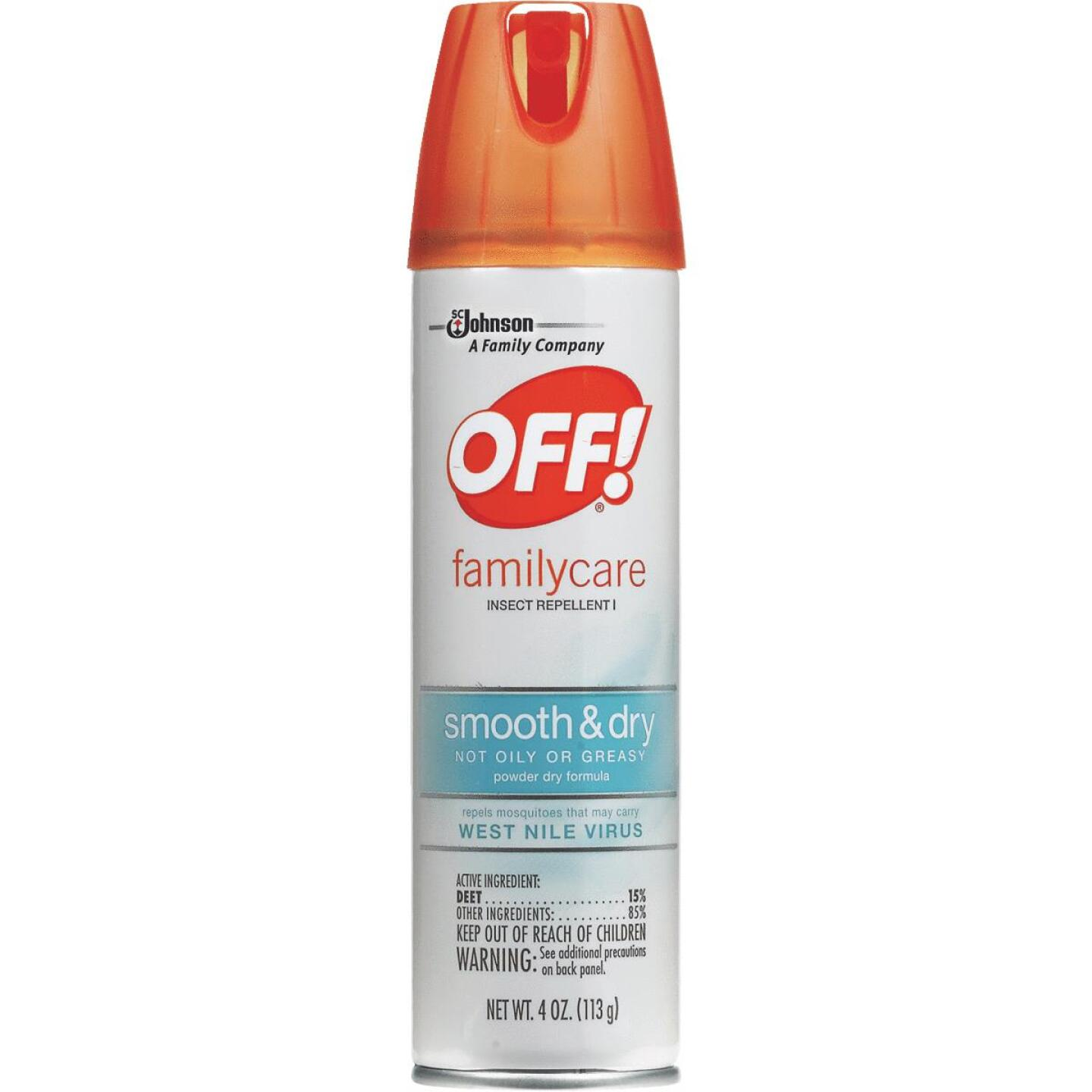 Off Family Care 4 Oz. Dry Insect Repellent Aerosol Spray Image 1