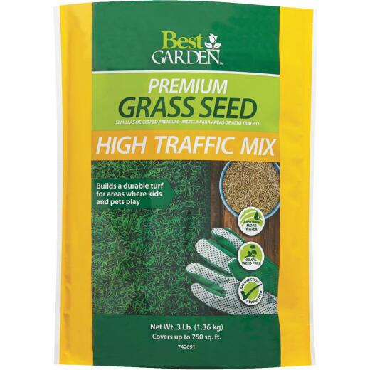 Best Garden 3 Lb. 900 Sq. Ft. Coverage High Traffic Grass Seed