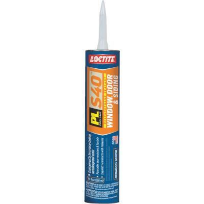 Loctite PL S40 10 Oz. Polyurethane Window, Door, & Siding Sealant, Redwood