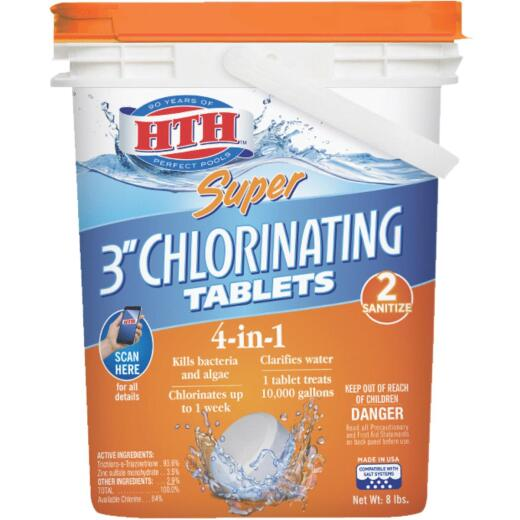HTH 8 Lb. Super Chlorinating Tablets